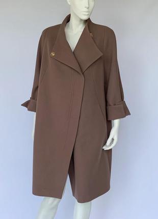 Женское пальто season каталония коньяк большие размеры