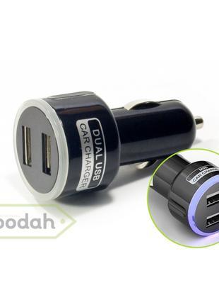 Зарядное устройство USB от прикуривателя с подсветкой - Vehemo