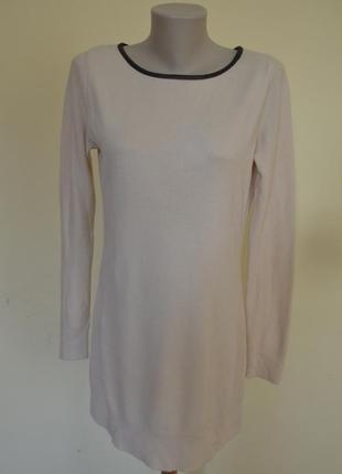 Красивая теплая длинная трикотажная кофточка  или платье-туник...