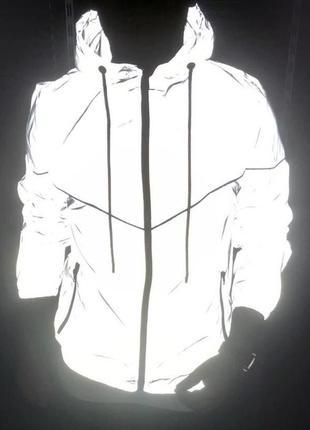 Куртка мужская светоотражающая серая / курточка чоловіча ветро...