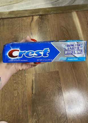Зубная паста crest baking soda & peroxide whitening