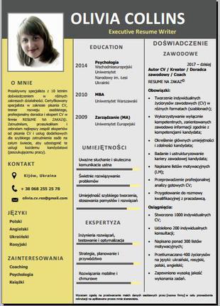 Резюме на польском языке под заказ. Резюме на английском языке.
