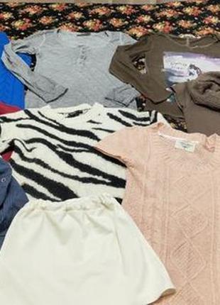 Комплект пакет женские вещи одежда для девушки юбка кофта жиле...