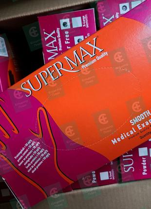 Перчатки медицинские виниовые, смотровые, размер М SuperMax