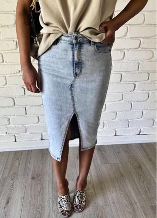 Джинсова юбка
