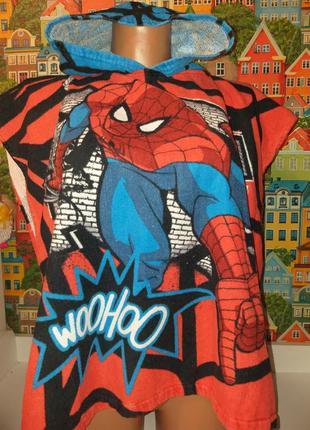 Полотенце с капюшоном пончо человек паук