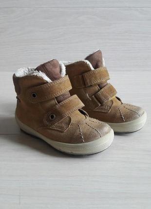 Замшевые ботинки superfit, gore-tex