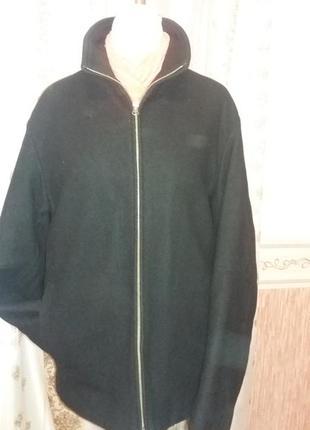 Шерстяное пальто-куртка
