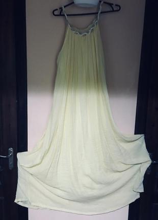 Шикарное летнее фирменное платье в греческом стиле