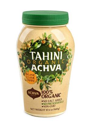 Тахини тхина Tahini Achva Organic тахинная кунжутная паста 500г