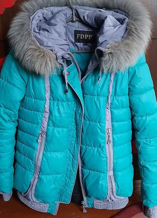 Куртка зима с натуральным мехом