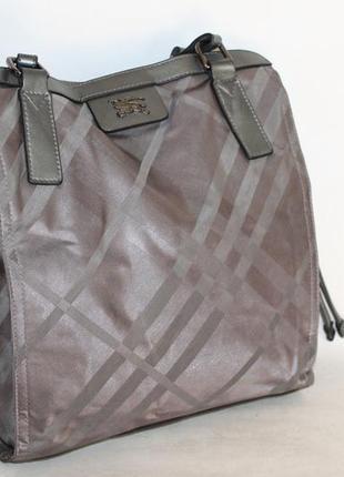 Burberry оригинальная сумка натуральная кожа+ткань