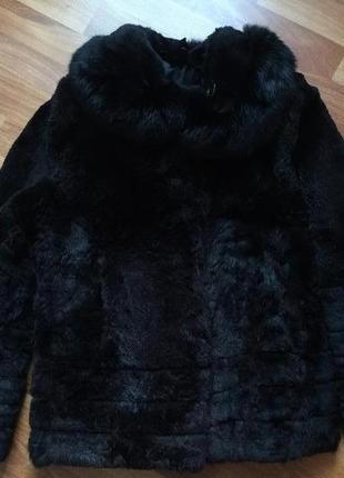Натуральная короткая шуба куртка из кролика шубка кролик