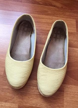 Балетки туфли под кожу питона