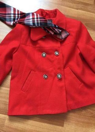 Короткое демисезонное осеннее кашемировое пальто пиджак куртка...