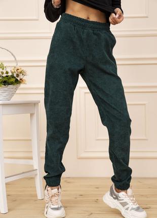 Женские вельветовые брюки цвет Зеленый