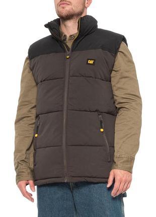 Куртка жилет мужской caterpillar arctic zone vest оригинал из сша