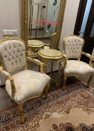Набор : два стула и консоль подставка барокко из Европы