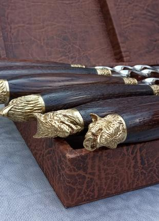 Шампура Подарок Охотнику 6шт В Футляре