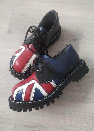 Стилы, берцы, британский флаг, ботинки с принтом
