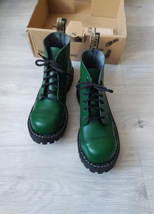 Берцы зеленые, стилы зеленые , стилы деми, стилы кожа, берцы кожа