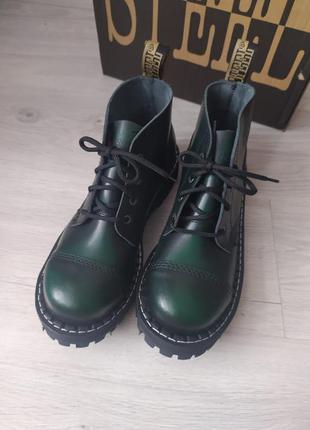 Стилы, берцы ботинки стальной носок, берці , кожанные ботинки