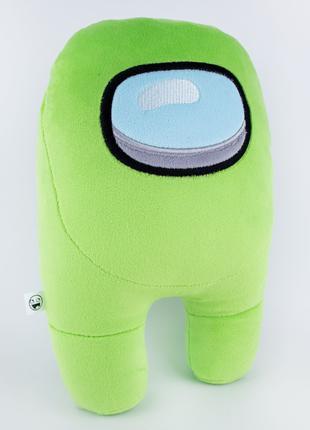 Мягкая игрушка Weber Toys космонавт Among Us 27см зеленый