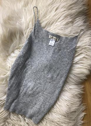 Трендова кашемірова майка soft grey