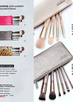 Набір пензликів для макіяжу з косметичкою PRO