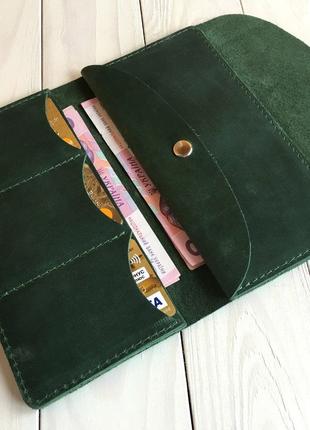Женское кожаное портмоне Goose™  зеленый
