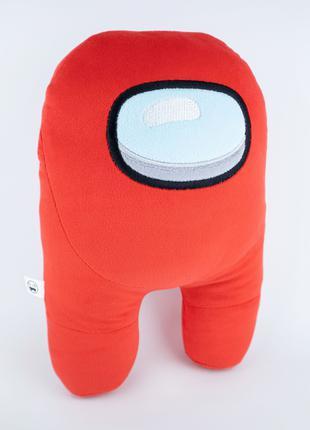 Мягкая игрушка Weber Toys космонавт Among Us 27см красный