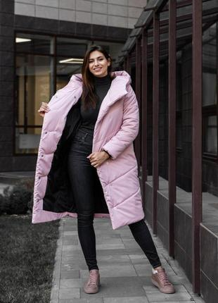Ультрамодное зимнее женское пальто-одеяло