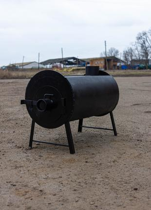 Буржуйка с дополнительным теплообменником, печь булерьян