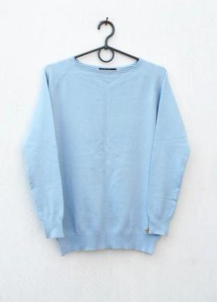 Весенний осенний голубой свитер с длинным рукавом 🌿