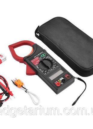 Токоизмерительные клещи цифровые, мультиметр DT 266FT + термопара