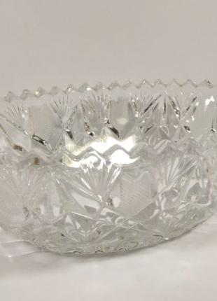 Ладья вазон вазочка конфетница хрусталь СССР