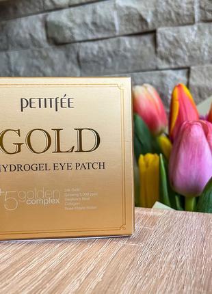 Petitfee, Гідрогелеві Патчі Для Очей З Золотом, 60 Шт.