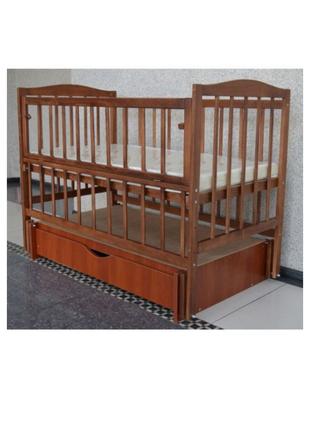 Кроватка Sofia Eco Color S-5 Орех (120*60, 3 ур-ня, откидн. бок.)