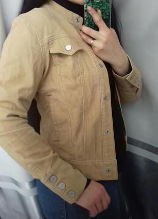🖖1+1=3 вельветовая джинсовка куртка жакет пиджак цвет camel🖖