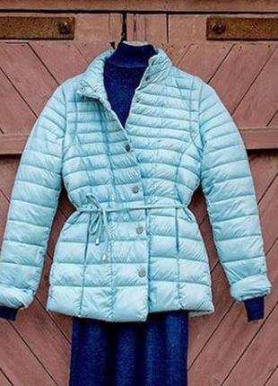 Куртка жилет два в одном ветровка стеганая голубая