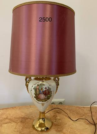 Лампа настольная антикварная керамика из Европы