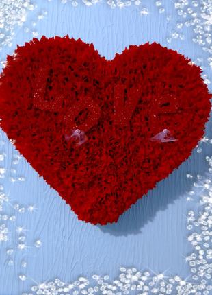Украшение  сердце на свадебную машину+ топеры в подарок.