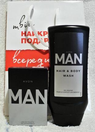 Набор: туалетная вода мужская 30мл и гель д/душа man 250 мл
