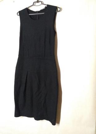 Платье теплое зимние шерсть и кашемир черное