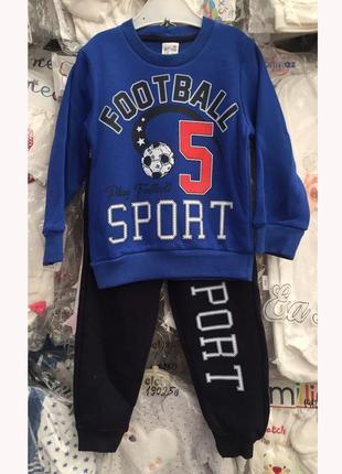Детские костюмы теплые 3-6 лет синий
