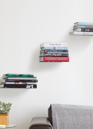 3 полки скрытые для книг, невидимки