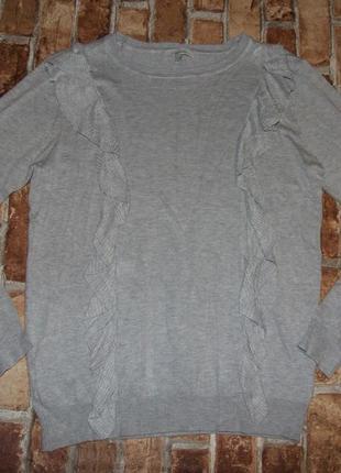 Кофта свитер вискоза с рюшами 12 евро