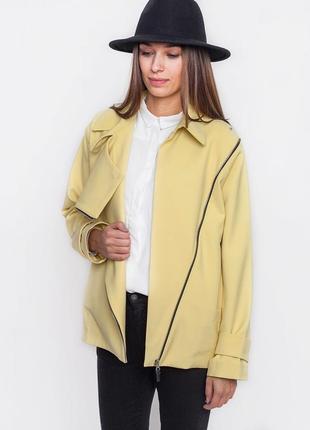 Жакет, куртка косуха желтого цвета