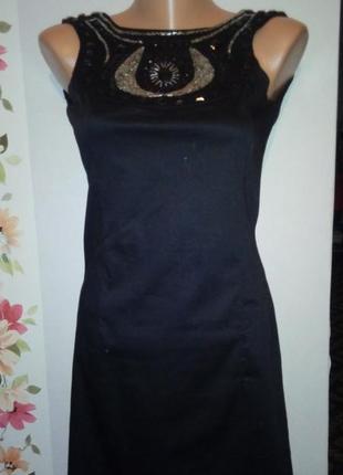 Вечернее коктейльное черное облегающее платье мини ax paris
