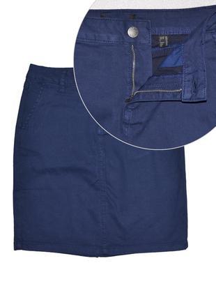 Джинсовая юбка выше колен c карманами, два размера 44 и 46ru о...